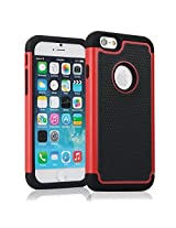KAYSCASE Heavy Duty Cover Case TurtleBox for Apple iPhone 6 - Red