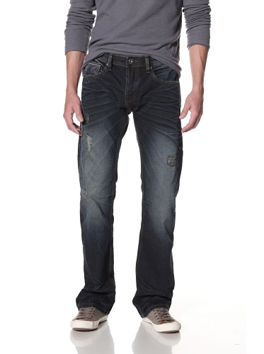 Cult of Individuality Men's Hagen Relaxed Jeans (Smokey 18 Month)
