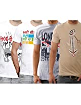 Funktees Men's Round Neck M Size T-shirt - Pack of 4