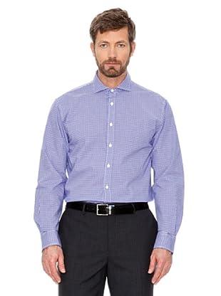 Cortefiel Camisa Cuadros (Morado / Blanco)