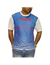 Auxamis Men's Half Sleeve Round Neck ester T-Shirt-Multi-Coloured