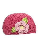 San Diego Hat Hot Pink Flower Beanie, Pink