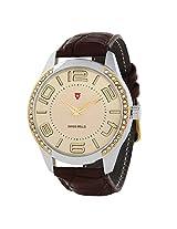 Svviss Bells Trendy Golden Dial Studded Watch