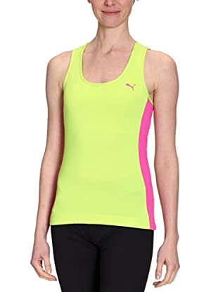 PUMA Tank Top Essential Racerback (lime punch/raspberry rose)