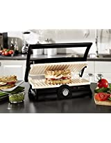 Nova 3 in 1 Grill Sandwich Press NGS-2455 with White Ceramic Coated Plates (scratch free & 4 times more durable) & 180 Degree Open Grill Function- Grilled Sandwich + Barbeque Grill + Panini Grill - POWERFUL 1500 Watts