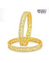 Sukkhi Incredible Gold Plated Set OF 2 Australian Diamond Bangle