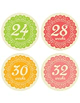 Lucy Darling Shop Pregnancy Belly Sticker - Doily - Weeks 8 - 40 (12 stickers)