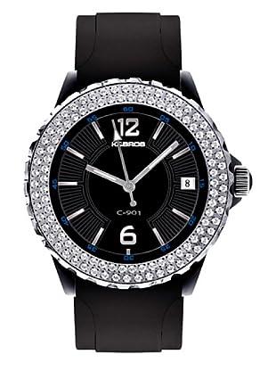 K&BROS 9177-1 / Reloj de Señora  con correa de caucho negro