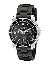 Victorinox Men's 241696 Maverick Stainless Steel Watch with Black Rubber Band