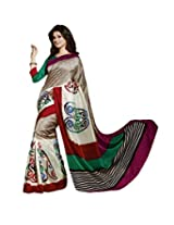 Bhavi Printed Tanjavur Silk Sari