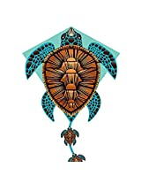 "X Kites Deluxe 26"" Dlx Diamond Nylon Kite With Fancy Tail Turtle"