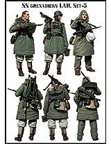 Evolution Miniatures 1:35 Ss Grenadiers Lah Set5 Resin Figures (3) Kit #Em 35062
