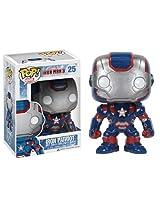 Iron Patriot: ~4 Funko POP! 'Iron Man 3' Vinyl Bobble-Head Figure