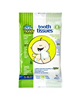 Baby Buddy Tooth Tissues Dental Wipes, Bubble Gum/White (Pack of 60)