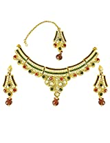 Surat Diamonds Gold Plated Choker Necklace For Women Multi-Colour - PS275