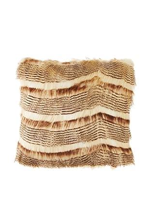 Montague & Capulet Faux Siberian Pillow, Caramel Cream