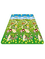 Kidmat Soft And Sturdy Imported Full Size Play Crawl Mat For Infant, Toddlers, Baby, Kids Safety Play - 4ft x 6ft large size, 5mm Thick mat