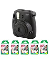 Fujifilm FU64-MIN8BKK100 INSTAX MINI 8 Camera and Film Kit with 100 Exposures (Black)