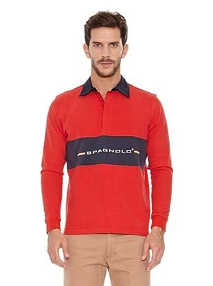 Spagnolo Polo Punto Doble Horizón (Rojo)