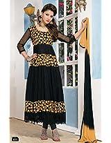 Latest Blck Brasso And Simple Anarkali Suit By Khantil Ss2156-1005