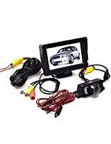 Tonsee Car Rear View System Reverse Camera Night Vision+4.3 Inch TFT LCD Monitor