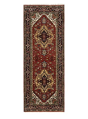 eCarpet Gallery One-of-a-Kind Hand-Knotted Serapi Heritage Rug, Copper, 4' x 10' 5