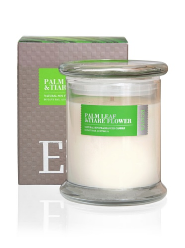 Ecoya Botanicals Metro Jar Scented Candle in Palm Leaf and Tiare Flower Fragrance