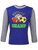 Babyhug Full Sleeves T-Shirt - Future Champ Print