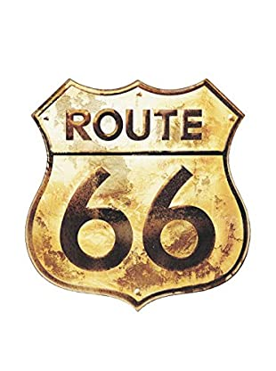 Artopweb Panel Decorativo Route 66 Golden Sign Legno