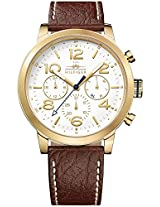 Tommy Hilfiger Casual Sport Brown Leather Strap Men's Watch - TH1791231J