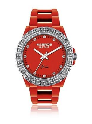K&Bros  Reloj 9552 (Rojo)