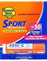 Banana Boat SPF#50 Sport Lip Balm 0.1oz. (3-Pack) with Free Nail File