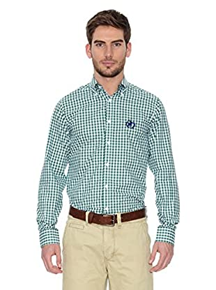 Polo Club Camisa Hombre Checks (Verde Botella)