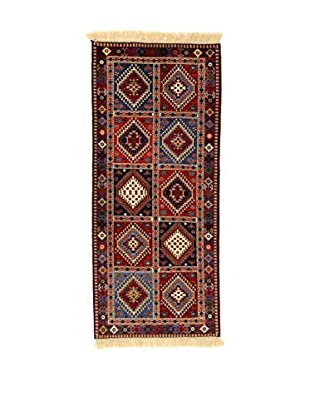 L'Eden del Tappeto Teppich Yalameh rot/mehrfarbig 190t x t84 cm