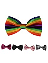 DBFF0004 Series Colors Boys Satin Holidays Stain Boys Pre-Tied Bow Ties Set - 5 Styles Available By Dan Smith