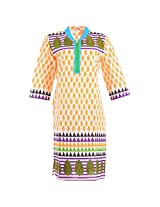 Karni Women's Cotton Yellow Kurti