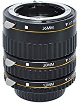 Xit XTETN Auto Focus Macro Extension Tube Set for Nikon SLR Cameras (Black)