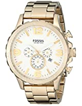 Fossil Mens JR1479 Nate Chronograph Stainless Steel Watch - Gold-Tone