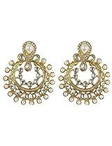 Muchmore Ethnic Fashion Kundan-Pearl Made Polki Earring For Women Gift Jewelry