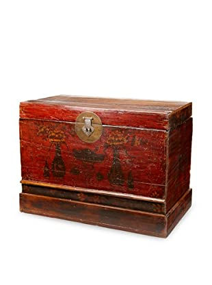 Antique Revival Chinese Lacquered Trunk  (Sizes May Vary)
