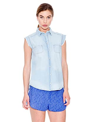 Mango Camisa Cloud (Azul Denim)