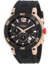 red line Men's 50033-RG-01 Mission Chronograph Black Dial Black Silicone Watch