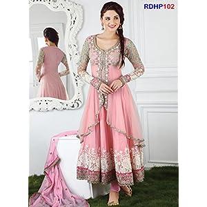Latest Hot Soft Pink Anarkali Salwar Kameez