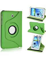 GB 360 Rotating PU Leather Stand Case For Samsung Galaxy Tab3 7.0 P3200 Green