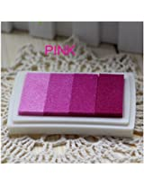 1pc Gradient Oil Based Ink pad Signet For Paper Wood Craft Rubber Stamp (pink)