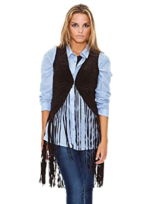 Maze Vest With Frings Mujer (Marrón)