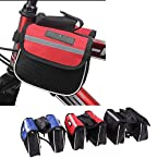 New Bicycle Pannier Bags Set Pair - Nylon Bag for Touring Bike (BLACK)