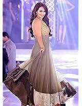 Sonakshi Sinha Gray Anarkali In Iibs Fashion Show
