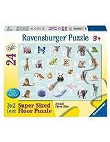 Animal Alphabet Floor Puzzle, 24-Piece