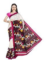 Ishin Bhagalpuri Silk White Saree